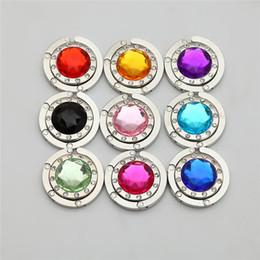 9 Color Crystal Acrylicl DIY Bolso Plegable Brillante Bolso Bolso Colgador de Perchas Adhesivo Plegable F649 desde fabricantes