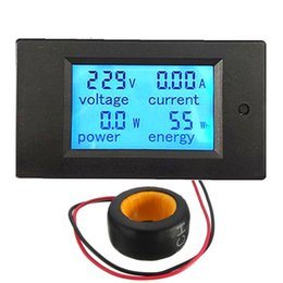 Wholesale Energy Monitor Meter - Lowest Price AC 100A Digital LED Power Panel Meter Monitor Power Energy Voltmeter Ammeter