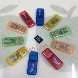 Wholesale Micro M2 2gb - Free Shipping High Speed crystal USB 2.0 Micro SD card T-Flash TF M2 Memory Card Reader adapter 2gb 4gb 8gb 16gb 32gb 64gb TF Card