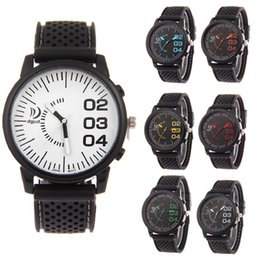 Wholesale Race Alloys - Wholesale mens men silicone sport watches Fashion Black rubber racing watch Military army New style students wrist watches for men