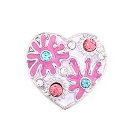 Wholesale Cute Clay Charms - 2018 Fashion Cheap Snap Button 18mm Cute Heart Jewelry DIY Necklace Bracelet Accessory