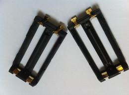 Soporte de la batería de alta calidad keystone SMT DIY Box Mod li ion ni-mh lifepo4 18650 soporte de la batería doble 2 * 18650 trineo de batería con lengüetas SMT desde fabricantes