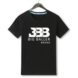 Wholesale Black Short Sleeved Shirts - Lonzo Jersey No. 2 T-shirt Ball Basketball Male Cotton Short Sleeved Loose BBB Tshirt beatles Palace t shirt