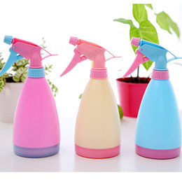Wholesale Plants Furniture - 10PCS Plastic sprinkler Flowers Watering Can Water Spray Kettle Candy Color Gardening Green Plant potted watering spray pot Furniture clean