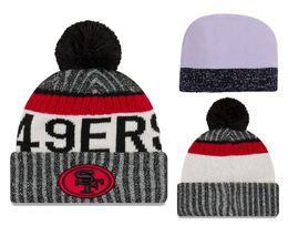 Wholesale Team Knit Pom Beanies - 2017 Sideline Sport Knit Hat Team Winter Beanies Hats for Men Women Ski Snow Sports Pom Knit Beanies Caps Hot Sale YD 238