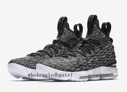 Wholesale Ash Canvas Sneakers - LeBron 15 Ashes basketball shoes James 15 sports shoes LBJ 15s sneakers LeBRon 15 men sheos James Arrival LBJ 15s size us 7-us12