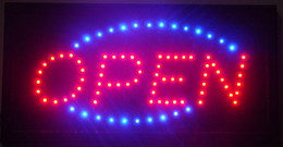 Wholesale Led Neon Board Sign - 2016 super brightly running store neon Boards LED Business open Sign 19 x 10 Inch led billboards Wholesale