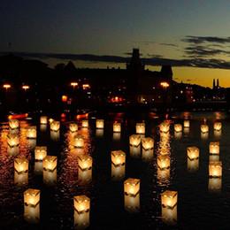 Lanterne di carta Galleggiante di acqua leggera Piazza Festival di benedizione cinese Lanterne Galleggianti che desiderano luce luce di candela d'acqua cheap light paper lanterns da lanterne di carta leggera fornitori