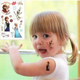 Wholesale Henna Tatto Stickers Wholesale - Children Cartoon Temporary Tattoo Stickers Princess Elsa Anna Body Art Flash Tattoo Waterproof Henna Tatoo Kids Girls Boys Tatto Small