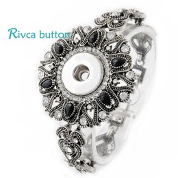 Wholesale Silver Ring Singapore - Wholesale-P00711 Neweset Snap Button Bracelet&Bangles Newest Design Chain Antique Silver Plated Vintage Bracelet FIt Snap Button Jewelry