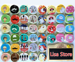 Wholesale Girls Jewelry Storage Box - FreeShip 20pcs 7*3cm 3D Cartoon Mustache Girl Macaroon Tinplat Gift Earbuds Headphone Earphone Box Cable Jewelry Coin Purse Storage Tin Box