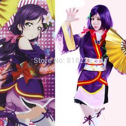 Wholesale Angelic Dress - Wholesale-Lovelive Love Live Angelic Angel Tojo Nozomi Kimono Uniform Dress Outfit Anime Cosplay Costumes
