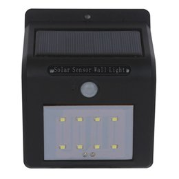 Wholesale Wall Switch Panels - Shipping via DHL LED solar wall light with solar panel PIR sensor only working in night needle hole or button switch