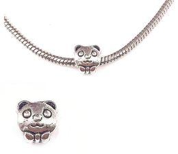 colliers de panda Promotion Mode pendentif en argent plaqué panda grand trou perles en vrac Pandora DIY Bijoux Bracelet Pendentif Européenne Perlé Bracelet Collier accessoires