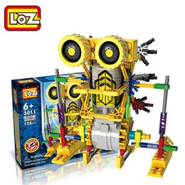 Wholesale Dinosaur Electric - Wholesale-LOZ blocks Electric building blocks robot dinosaur series DIY Building Blocks Figure toys Educational toys free shipping
