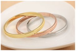 Wholesale Forever Days - New Arrival High Quality Scrub fashion Love Forever Bangle platinum 18K Rose gold Plated Bracelet for couple Freeshipping