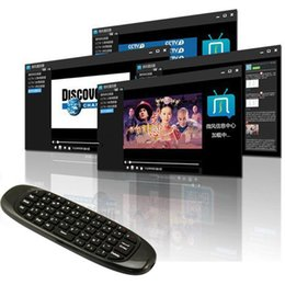 Wholesale Cheap Tv Remotes - Retail cheap C120 Fly Air Mouse Gyroscope USB receiver 3 Axis Sensor Game Handgrip for Smart Tv Box Wireless Remote Control Game Keyboard