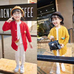 Wholesale Sleeveless Sweater Coat - Fashion Girls Spring Autumn Sweet knitted sweater Cute cardigan coat Children Crochet Sleeveless Kids Clothes baby Clothes Lovekiss C29461