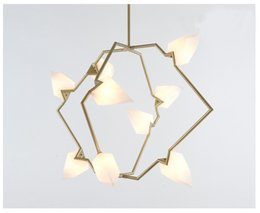 Wholesale Hanging Light Fittings - Tree Branches Seed Chandelier Postmodern Simple Art Deco LED Hanging Lamp Living Room Light Fitting 9 Lights LT