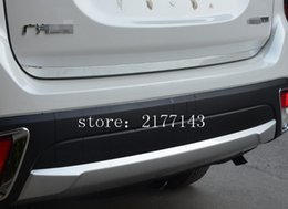 Wholesale Car Sticker For Mitsubishi - CAR-STYLING REAR DOOR GATE TRIM TRUNK LID MOLDING DECORATIVE COVER STICKERS FOR MITSUBISHI OUTLANDER 2013 2014 2015 2016 2017 ACCESSORIES