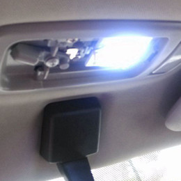 cree rojo bombillas led Rebajas 48 SMD COB LED T10 4W 12V- El panel interior del coche de la luz blanca llevó el bulbo de lámpara del domo de las luces