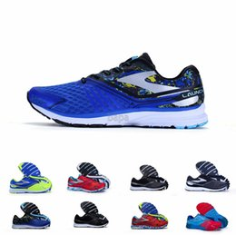 Wholesale Summer Tops Usa - 2016 Top quality USA top running shoes Brooks Fashion Designer Men's Shoes Running Sneakers for MENS LAUNCH Two shoe Size 40-46