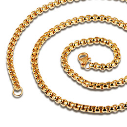 Wholesale Cheap Stainless Steel Pendants - 2016 New Chain Necklaces Fashion Black Gold Plated Stainless Steel Vintage Men's Jewelry Gift Link Chain Cheap Price dkl744H