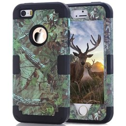 Wholesale Galaxy Realtree - Realtree Hybrid Grass Branch Tree Case For Ipod Touch 5 6 Samsung Galaxy Note5 Hard Plastic PC Soft Camo Shockproof Ballistic Fashion Cover