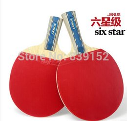 Wholesale Table Tennis Racket Long Pimples - 2014 Professional 6 STAR Table Tennis Racket Bats Long Pimples Straight Grip and Horizontal Grip Special For PingPong Lovers