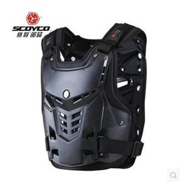 Wholesale Back Chest Protectors - New arrival Scoyco AM05 Motorcycle Body Armor chest and back motocross body protector Spine Chest Protective Jacket Gear