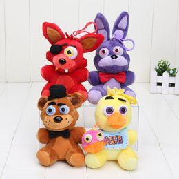 Wholesale Fox Games - 14cm FNAF in stock five nights at freddy fox bear bonnie toys plush pendants keychains dolls kids toys stuffed soft toys