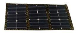 carregador solar banco laptop Desconto 54 Watt Kit de Painel de Dobramento Painel Solar de Tecido Sem Fio Portátil para 12 V Bateria para RV Caravana Caravana