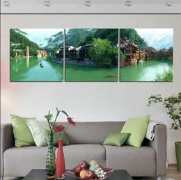 2019 tela astratta di bambù Unframed 3 PiecesFoto Decorazione murale Stampe su tela Pearl Fruits abstract flower Grape Cherry Bamboo ship lighthouse mountain river tela astratta di bambù economici