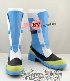 Wholesale Dramatical Murder Cosplay Costume - Wholesale-Dramatical Murder Seragaki Aoba DMM sole 3 Cosplay Boots shoes shoe boot #NC145 anime Halloween Christmas