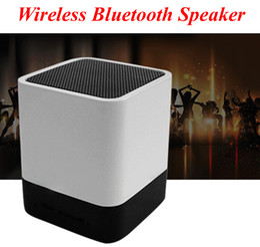 Wholesale Mini Alarm Speaker - Portable bluetooth mini speaker V3.0 Speaker LED Light Lamp Alarm Clock speaker with Support AUX Audio Input+ Handsfree Call for iphone