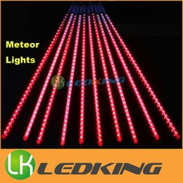 Lumières de pluie à météorite led extérieures en Ligne-SMD2835 LED Meteor light 30cm 50cm 80cm 10pcs / set extérieur led lumières de noël avec DC12V pilote Meteor douche lumière pour décorations de vacances
