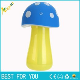 Wholesale Electric Aroma Lamps - Mini Mushroom Lamp Humidifier Aroma 5V USB LED Air Purifier Atomizer Diffuser Home Room Essential Oil Electric Car Aroma Diffuser new hot