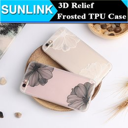 Wholesale 3d Huawei Phone Case - Luxury Floral Painted 3D Relief Case Vintage Retro Flower Mandala Cell Phone Cases Cover For iPhone 6 6S Plus Huawei P9 Plus Fundas Capa