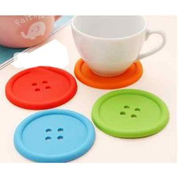 Wholesale Chinese Glass Mug - Wholesale- Vorkin 1XSilicone Coffee Placemat Button Coaster Cup Mug Glass Beverage Holder Pad Mat Free Shipping