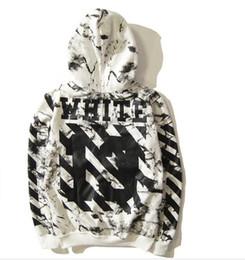 Wholesale Champagne C - SS Pyrex 13SS C O OFF Virgil Abloh WHITE Hoodies Religious stripe 13 print Pullovers Men Cotton Hooded sweatshirt