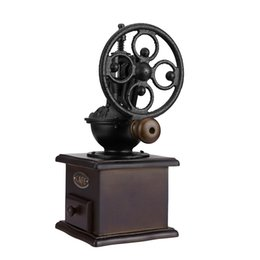Wholesale Grinders Coffee - Ferris Wheel Classical Manual Coffee Grinder With Ceramic Movement Retro Wooden Coffee Mill For Hone Office Hand Cafe Grinding