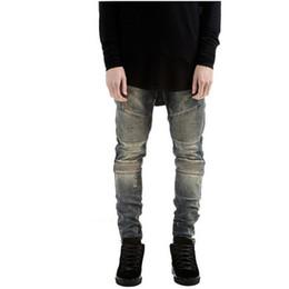 Wholesale Designer Urban - represent clothing rock urban star 30-36 blue black  white skinny moto designer denim biker mens fashion jeans men pants VC2944