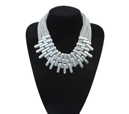 Wholesale Gold Weave Necklace - 2016 new hot Europe and America brand fashion geometric CZ912174 yarn weave necklace
