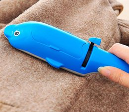 Wholesale Dog Lint Brush - Dolphin Lint Roller Magic Rotating Brush Pet Dog Cat Hair Furniture Dust Fluff Remover wholesale free shipping