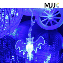 Wholesale Christmas Lights Window Decorations - Bat Shape Led String Light Battery Operated 2M 20 LEDS for Garden Window Tree Party Festival Halloween Decoration