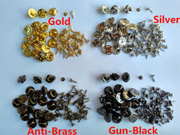 Wholesale Nail For Gun - 7mm nails post Gold Silver Anti-Brass Gun-Black brass tie tacks tacs butterfly pin backs clasp clutch for jewelry findings brooches scatter