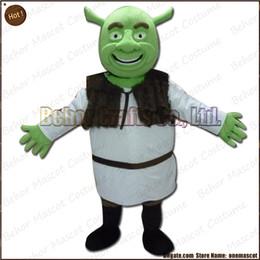 Wholesale Shrek Mascot Costumes - Shrek mascot costume EMS free shipping, cheap high quality carnival party Fancy plush walking Shrek mascot cartoon adult size.