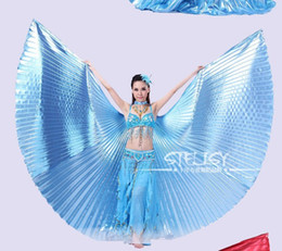 Wholesale Egypt Wings - Wholesale-1pcs Gold Egypt Costume Isis Belly Dance Wings Dance Wear Wing With Adjustable Neck Collar Hot Worldwide
