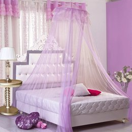 Wholesale Wholesale Canopy Curtains - 65*260*1150Cm High Density Mosquito Net Bed Net Hanging Mosquito Curtain Round Shape Soft Mosquitoes Nets With Hook Bed Canopy Netting