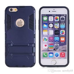 Wholesale Iphone 5s Case Armour - fashion phone case for Iphone 5 SE 6 6 Plus Shock Proof Armour With KickStand iphone 5s 6 cases Cover